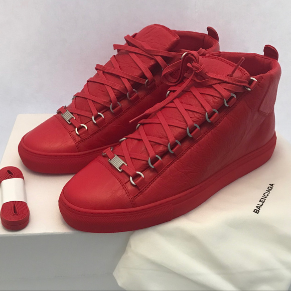 Balenciaga arena high sneakers red brand new! NWT